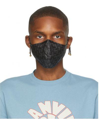 Текстильная маска для лица золотая на бретелях Lanvin