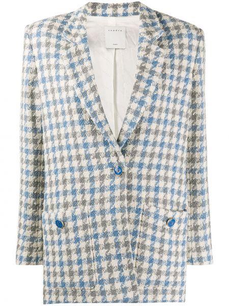 Пиджак твидовый в полоску Sandro Paris