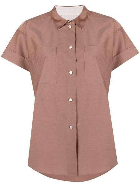 Шелковая рубашка с короткими рукавами с воротником Paul Smith