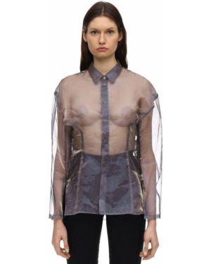 Фиолетовая классическая рубашка с воротником с манжетами Ambush