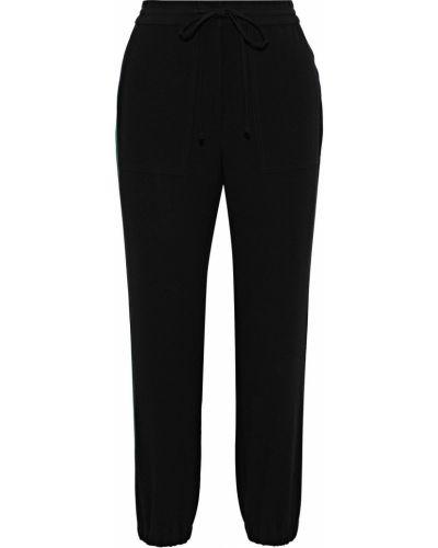 Черные брюки в полоску из крепа Derek Lam 10 Crosby