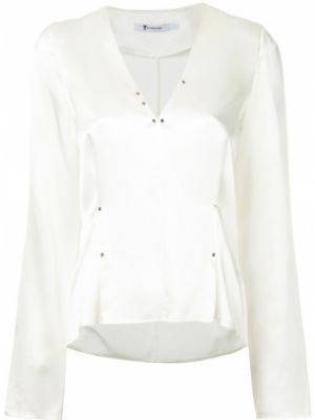Блузка с длинным рукавом шелковая белая T By Alexander Wang