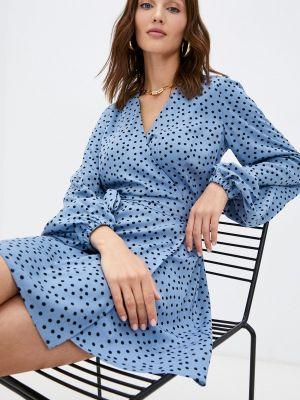 Платье с запахом - голубое Trendyangel