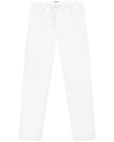Облегающие льняные белые брюки Il Gufo