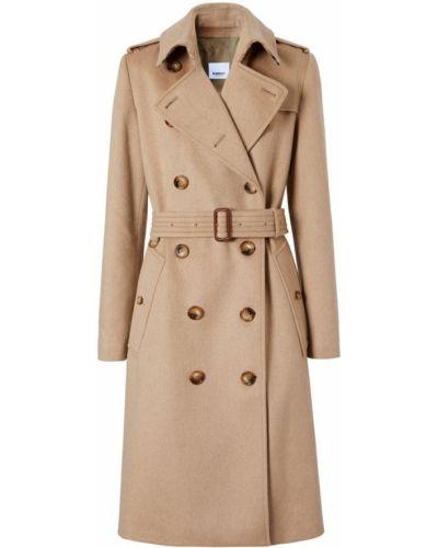 Шерстяное пальто - бежевое Burberry