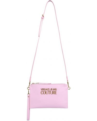 Różowa kopertówka Versace Jeans Couture