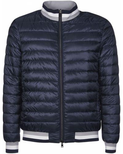 Niebieski płaszcz z nylonu Herno
