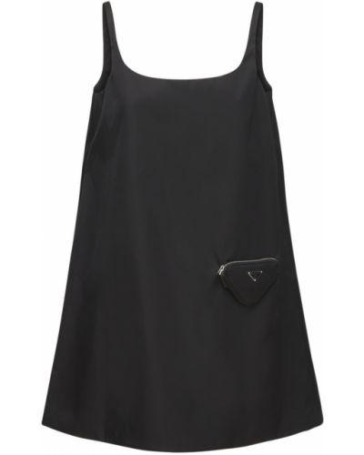 Платье мини - черное Prada