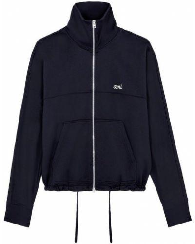 Niebieska kurtka bawełniana Ami Paris