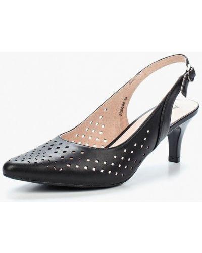 Черные туфли с открытой пяткой Alessio Nesca