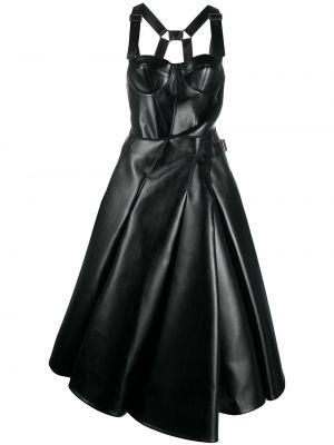 Черное платье миди с запахом с вырезом Junya Watanabe Comme Des Garçons Pre-owned