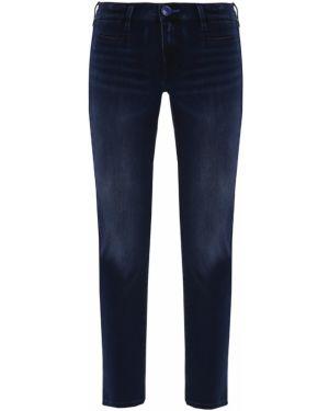 Джинсы-скинни синие с накладными карманами Jacob Cohen