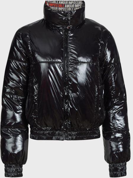 Черная куртка двусторонняя на молнии Pinko