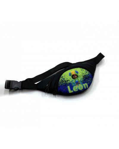 Текстильная черная поясная сумка с подкладкой Qq