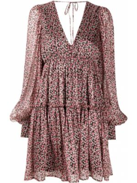 Платье макси розовое с открытой спиной Wandering