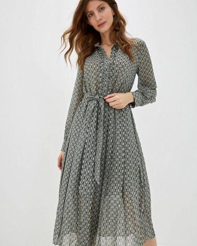 Платье серое прямое Lime