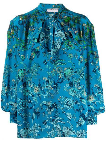 Koszula w kwiaty - niebieska Givenchy