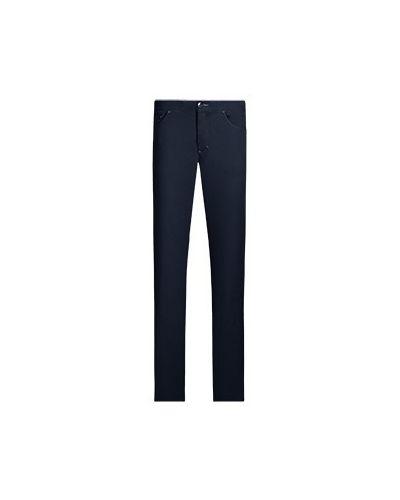 Хлопковые повседневные синие брюки Castello D'oro