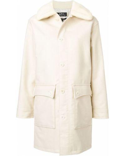 Белое пальто A.p.c.