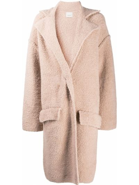 Прямое шерстяное пальто классическое с карманами Laneus