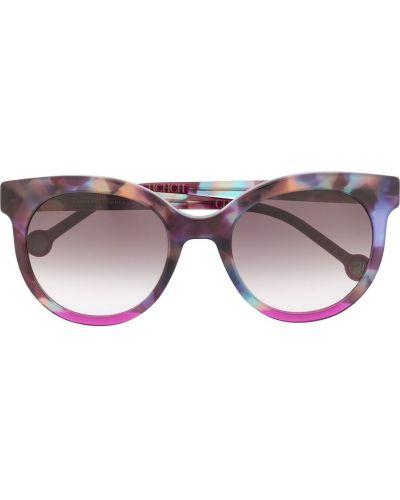 Муслиновые розовые солнцезащитные очки круглые Ch Carolina Herrera
