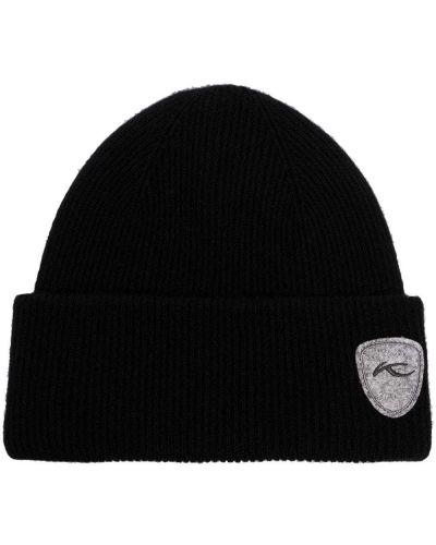 Шерстяная шапка бини - черная Kjus