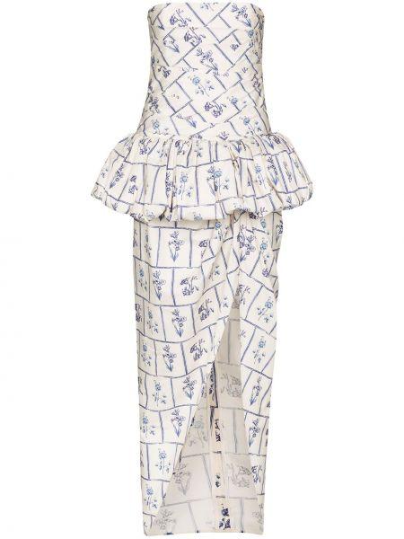 Вечернее платье с цветочным принтом на молнии Khaite