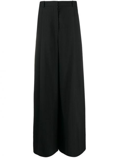 Черные свободные брюки с карманами свободного кроя с потайной застежкой Nina Ricci