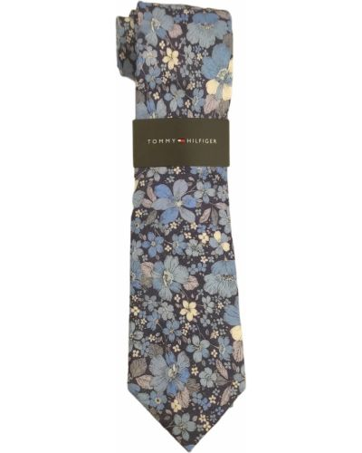 Голубой шелковый галстук Tommy Hilfiger