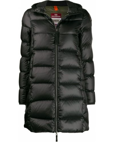 Прямая черная куртка с капюшоном Parajumpers