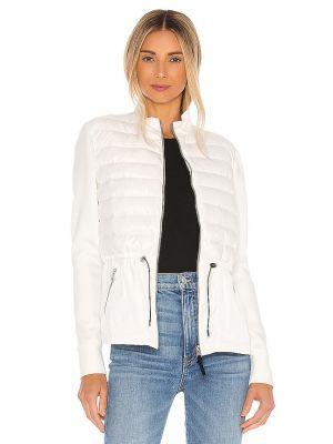 Белая кожаная кожаная куртка Mackage