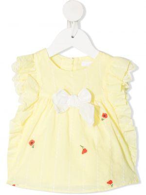 Блузка без рукавов с вышивкой с вырезом Chloé Kids