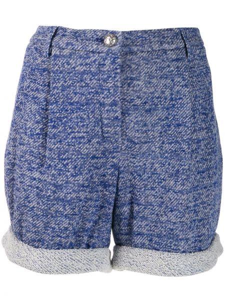 Хлопковые шорты с карманами с отворотом Chanel Pre-owned
