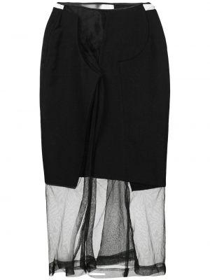 Юбка миди с завышенной талией прозрачная Comme Des Garçons Pre-owned