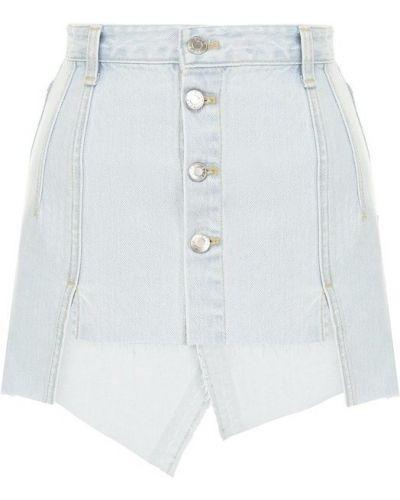 Юбка мини джинсовая льняная Steve J & Yoni P