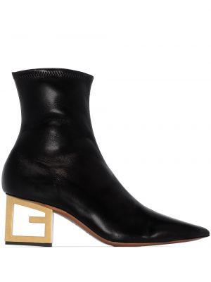 Włókienniczy czarny buty na pięcie z cięciem na pięcie Givenchy