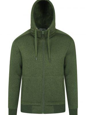 Zielona bluza z kapturem materiałowa Mountain Warehouse