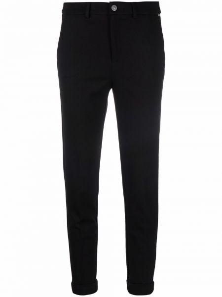 Укороченные зауженные джинсы - черные Liu Jo