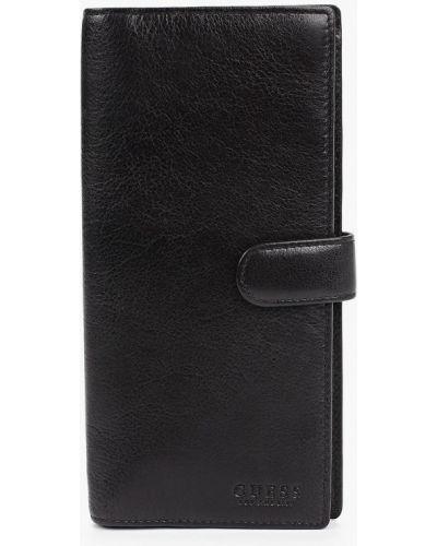 Черный кожаный кошелек Guess