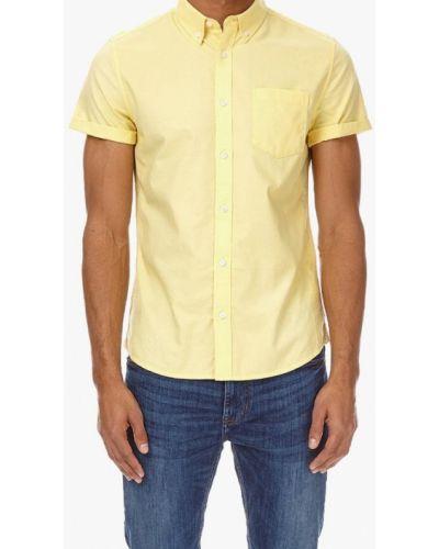 Желтая рубашка с короткими рукавами Burton Menswear London