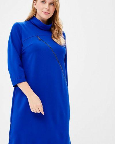 Синее платье прямое Indiano Natural