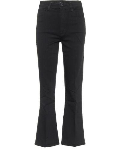 Классические ватные черные укороченные джинсы из вискозы J Brand