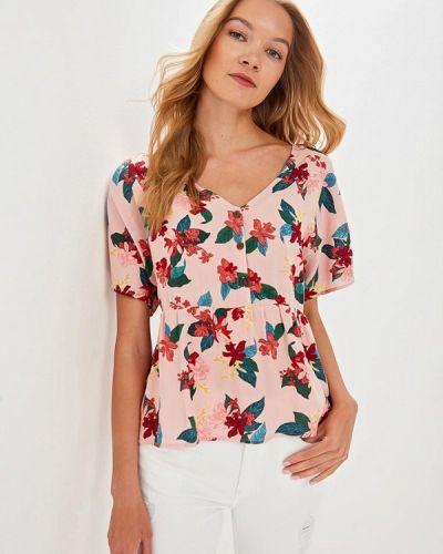 Блузка с коротким рукавом розовая весенний Top Secret