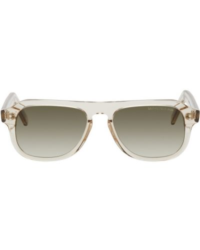 Кожаные черные солнцезащитные очки прозрачные Cutler & Gross