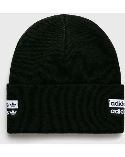 Зимняя шапка с отворотом черная Adidas Originals