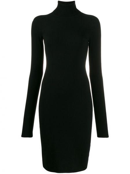 Платье макси вязаное с мехом Helmut Lang