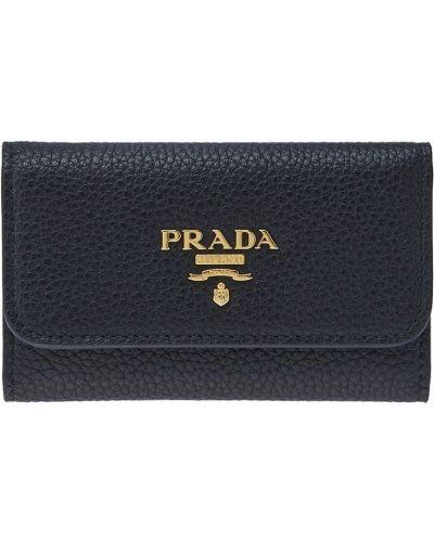 Ключница кожаная с логотипом Prada