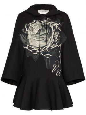 Платье с капюшоном шелковое Valentino