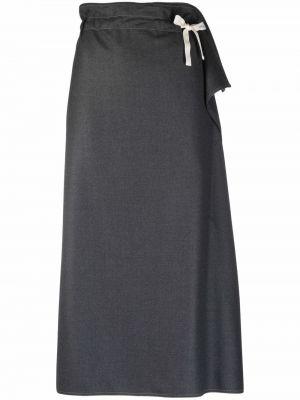 Шерстяная юбка миди - серая Sofie D'hoore