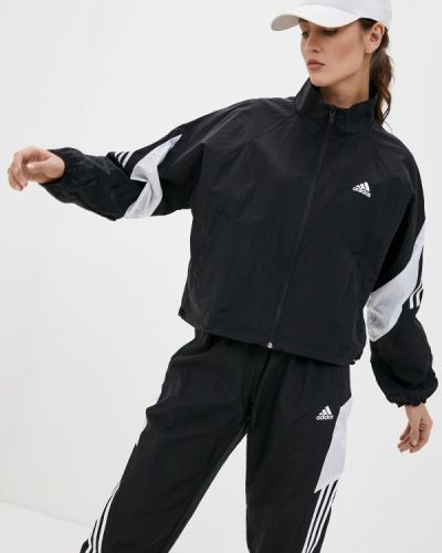 Костюмный черный спортивный костюм Adidas